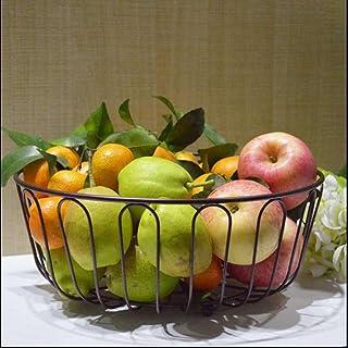 SQL Living comedor hogar fruta bowl fruta tazón gran capacidad cesta frutas secas placa moda cocina creativa almacenamiento rack colocación . black