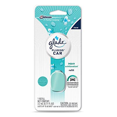 Glade PlugIns Car Air Freshener Refill, Aqua Exhilaration, 0.11 fl oz: Health & Personal Care [5Bkhe0412733]