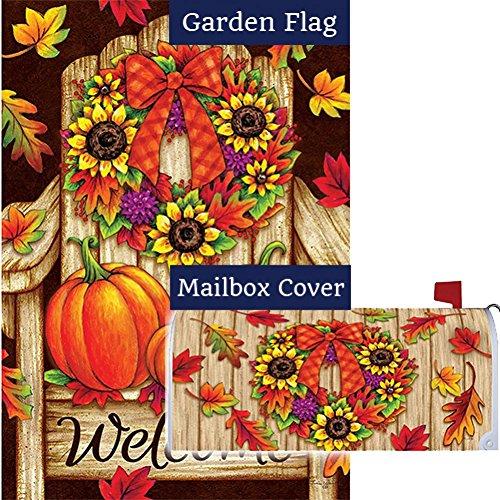 Custom Decor Fall Adirondack Wreath Garden Flag Mailbox Cover Bundle (Bundle Of 2)