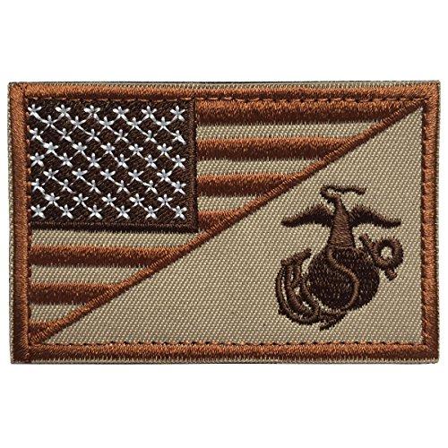 SpaceAuto USA American Flag w/ Marine Corps USMC Military Ta
