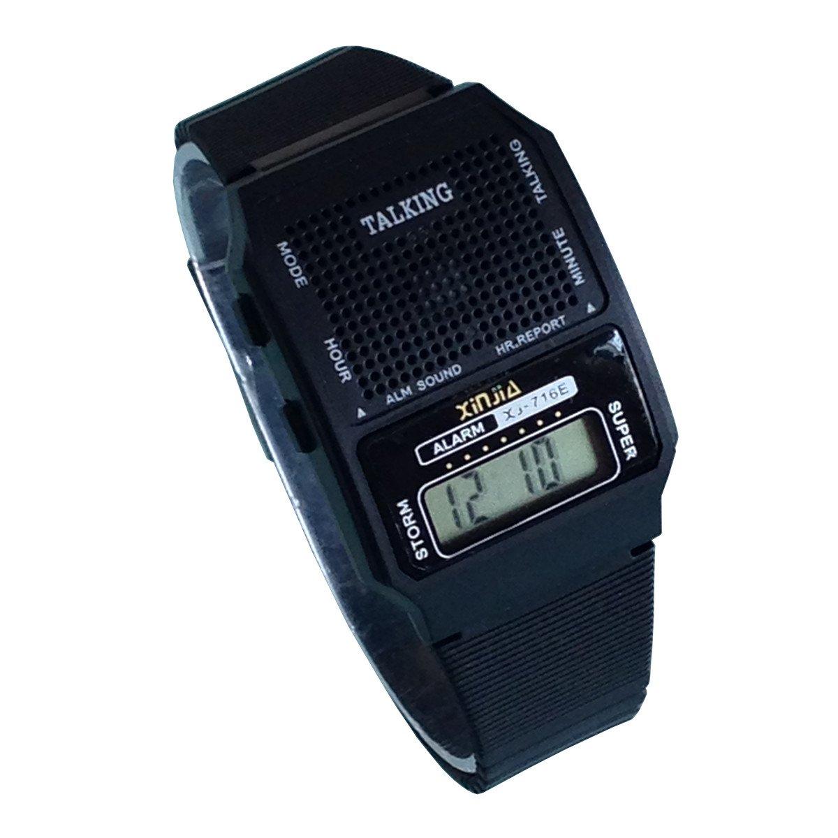 Reloj hablante Digital con Sonoro en Italiano con Despertador y Regulación horaria para niños y No videntes