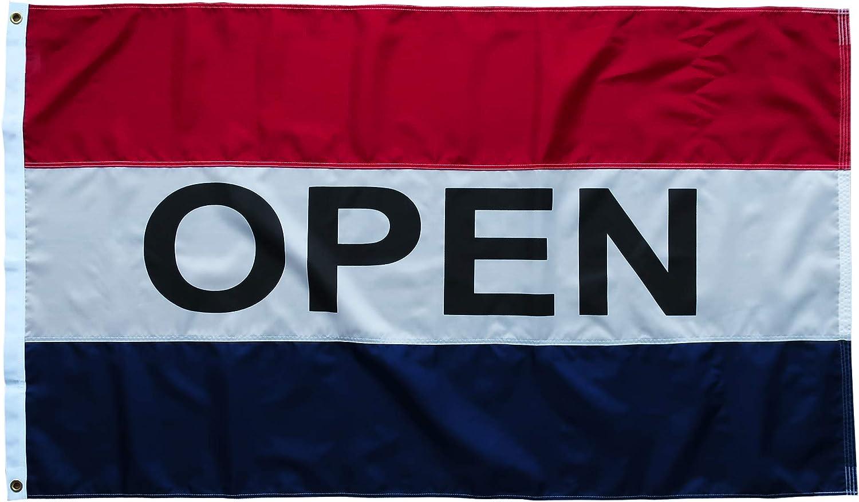 OPEN W// BALLOONS 3X5 POLY FLAG