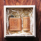 2 pcs set Personalized gift Vintage Brass Cigarette Pipe top Lighter Genuine Leather cover FREE Engraving (Embossing) SN-001C+D