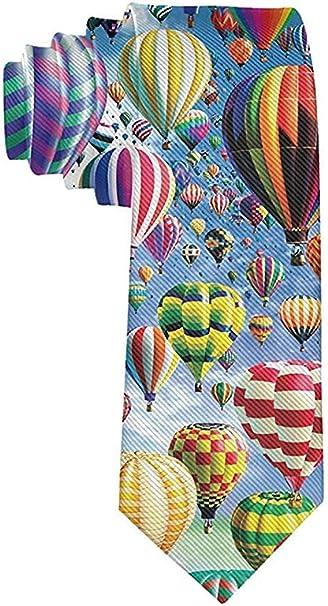 GZOSWLGS Hombre Globo aerostático Cielo Corbata de dibujos ...