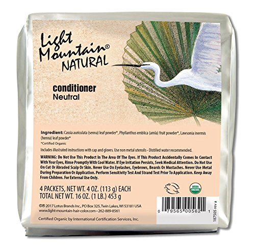 Light Mountain Natural Bulk Hair Color and Conditioner, Neutral, 16 ()