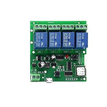 DC 5-32V 4 Channel  WiFi Wireless Delay Relay Switch Remote Control Smart APP