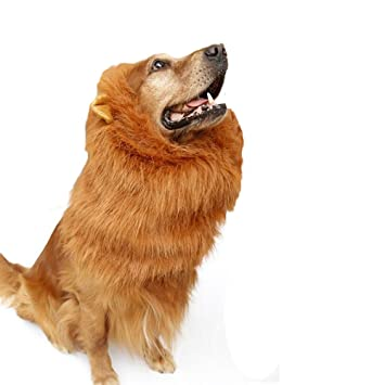 Disfraz de Mascota de Malena de Lion con Orejas Peluca Ajustable para Perro Ropa de Lujo