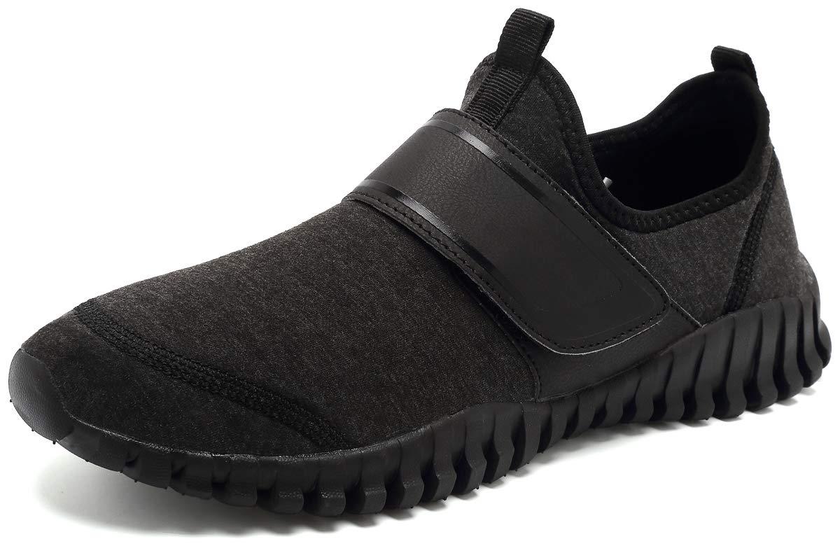 KEESKY Women's Water Hiking Shoes - Barefoot Shoes Wide Width Black Size 9.5