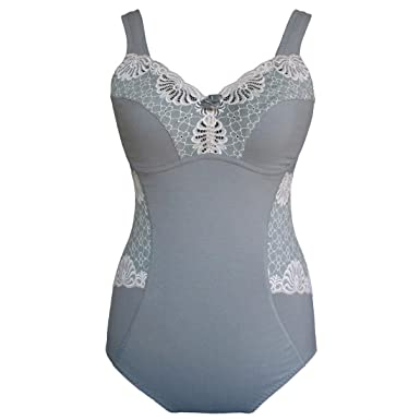 dcb5730ee3 SWEGMARK Cotton Rich Ultra Comfort Un Padded Un Wired Body Shaper Grey OR  White  Amazon.co.uk  Clothing