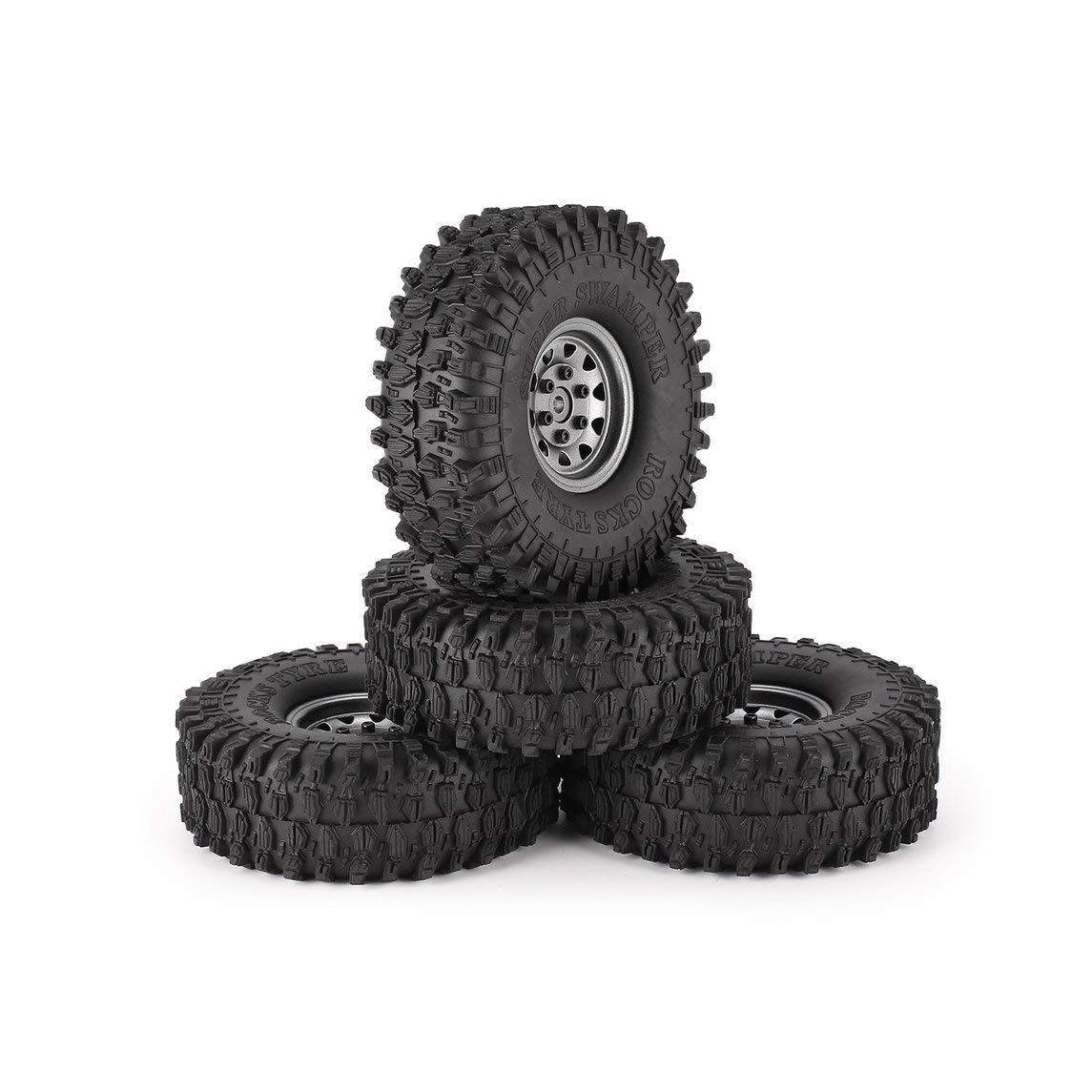hasta un 60% de descuento Footprintes 4 4 4 Unids 1.9 Pulgadas 120mm Neumáticos de Goma Neumático con Juego de Llantas de Rueda de Metal para 1/10 Traxxas TRX-4 SCX10 RC4 D90 RC Crawler Car Parte  barato y de alta calidad