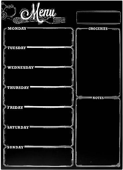 Lavagna magnetica cancellabile a secco per frigorifero lavagna per frigorifero Anager per cucina organizer per lavagna bianca 29,7 cm x 42 cm e agenda con tecnologia antimacchia