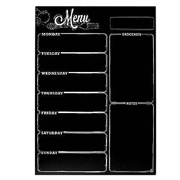 Pizarra Magnética para Nevera Pizarra de Planificación con Calendario Semanal para Frigorífico Organizador Magnética para Notas y Planificación ...
