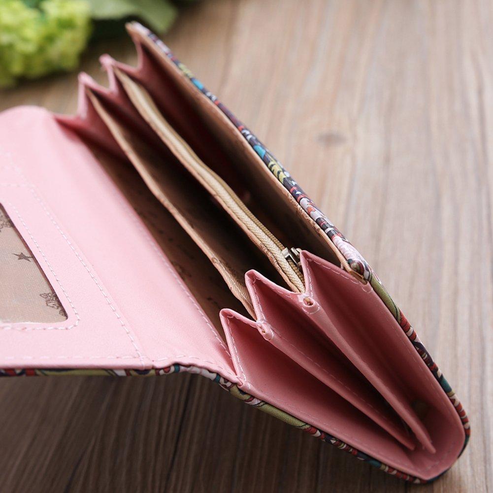 Vintage Women Faux Leather Coin Credit Cash Purse Multifold Card Holder Wallet - 1# SoundsBeauty by SoundsBeauty (Image #4)