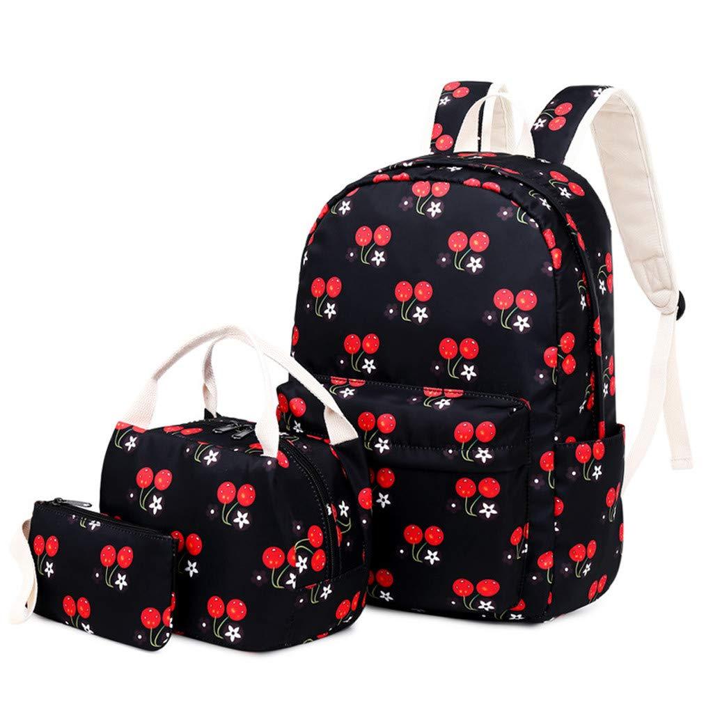 Lightweight Backpack for School, Yezijin Teen Girls Women Nylon Laptop Shoulder Bag School Backpack Rucksack Bookbag Set Large Capacity Backpack for School Teenager Girl Boy Under 10 Dollars