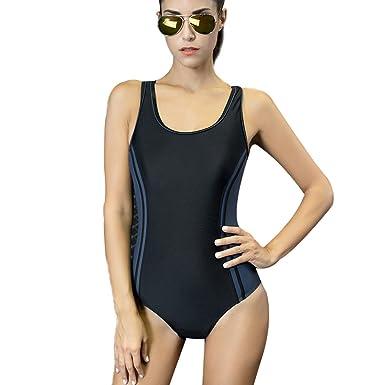 f58cb092a Selighting Bañador de Mujer Multicolor Bikini ropa de baño de una pieza  (Azul