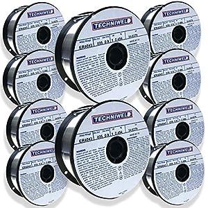 Techniweld ER4043 GENERAL PURPOSE Aluminum MIG Welding wire .035 1LB Lot 10