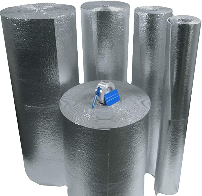 RADIANT BARRIER  24/'/'X50ft roll US Energy 5MM Reflective Foam Core Insulation