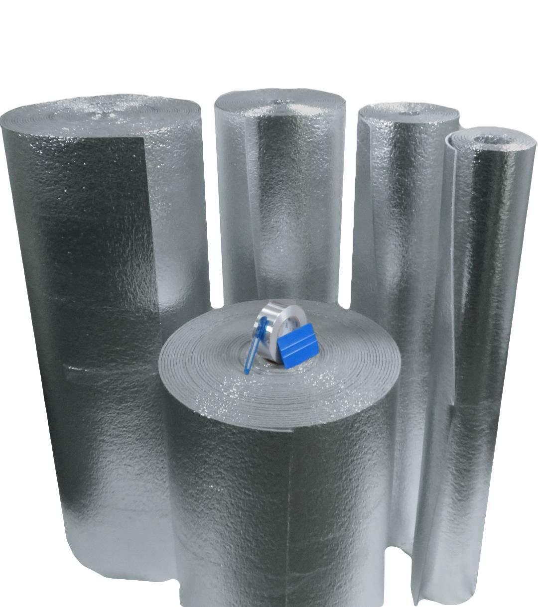 Car Insulation - 4' x 20' Roll (80 Sqft) Sound Deadener & Heat Barrier Mat - Automotive Lightweight Thermal Insulation AES