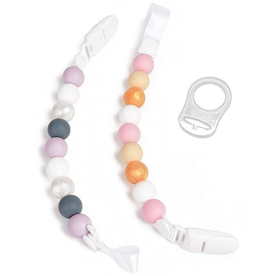 Clip Pacificador De Dientes, Paquete De 2 Diseño De Perlas ...