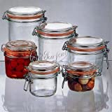 Le Parfait French Glass Canning Jar with 85mm Gasket and Lid - 1.5 Liter