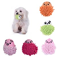 Awhao Puppy Dog Doggies Small Bite Chew Sound Squeaky Squeaking Plush Toys Soft Fleece Hedgehog Shape Cute Toys 1 Pcs Random Color