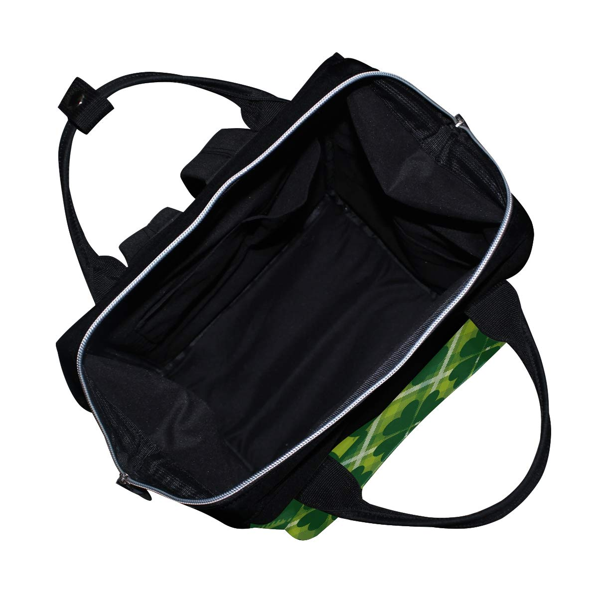 Diaper Bags Backpack Mummy Backpack with Clover Weed Tile Travel Laptop Daypack