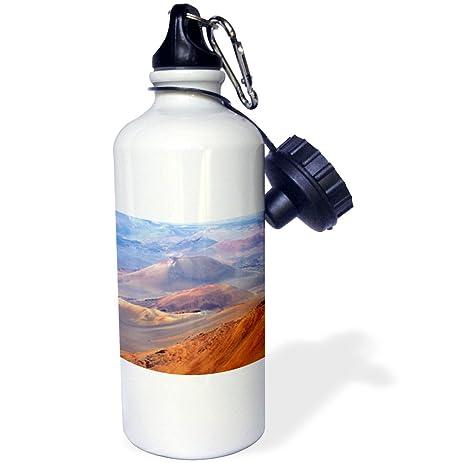 Maui Island 3dRose wb/_208386/_1 Crater of Volcano USA Sports Water Bottle 21 oz Multicolor Hawaii Haleakala Np