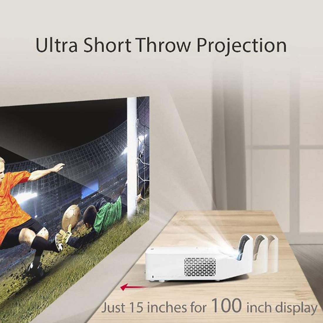 LG HF65LA Ultra Short Throw LED Home Theater CineBeam Projector with Smart TV and Bluetooth Sound Out