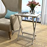 Lifewit Wooden Portable TV Tray Snack Table, Foldable Patio Garden Holder Tray Stand, Indoor Outdoor