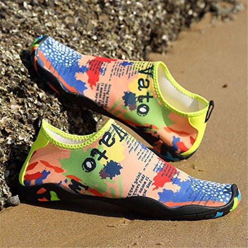 Wasserschuhe SAGUARO Gelb Für Weiche Herren Atmungsaktiv Damen Aquaschuhe Schuhe Unisex Rutschfest Badeschuhe Schwimmschuhe Leicht qatHa