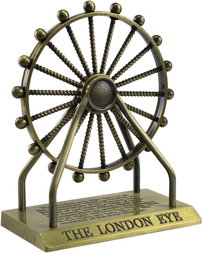 HSOMiD Decorative Vintage Ferris Wheel - London Eye, Metal Home Décor Photography Prop Souvenirs Gift (A)