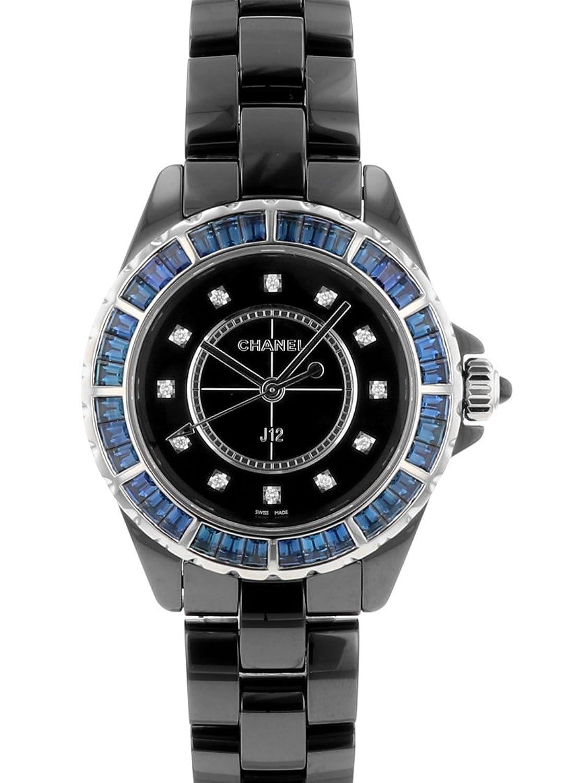 [シャネル] CHANEL 腕時計 H3121 J12 ブラックセラミック バゲットサファイヤベゼル 33mm レディース クォーツ [中古品] [並行輸入品] B0778N3X4P