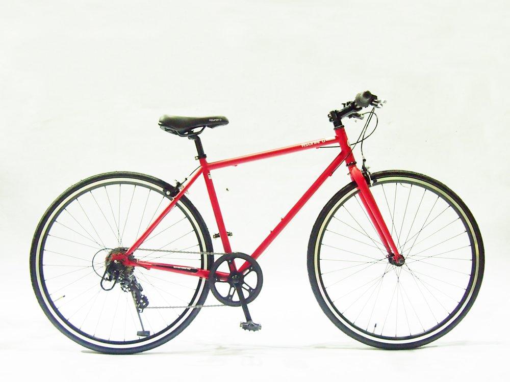 ASUNAROアスナロ 自転車 AN-707CN Clove(クローヴ) 700×28cクロスバイク 100%完成車 B073QPFKYK マットレッド マットレッド