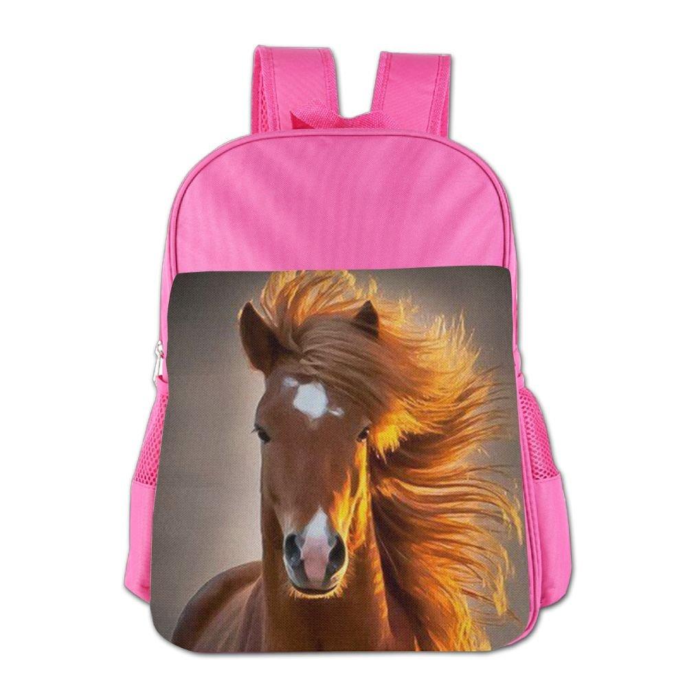 cnjellaw軽量学生ミニバックパックNoble馬印刷子ショルダースクールバッグ人気旅行用デイパックピンク One Size ピンク EC132ckAMN-36739006-Pink-29 B07DLS7PB5 ピンク One Size