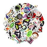 #3: Rick and Morty Stickers [100 PCS], Waterproof Rick and Morty Theme Stickers for Decorate Car, Laptop, Bicycle, Notebooks, Skateboards, Luggage, Wall etc. No-Duplicate Cartoon Stickers Pack