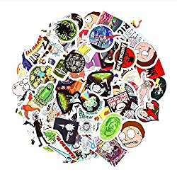 Laptop Stickers 100pcs, Rick and Morty Stickers for Motorcycle/ Bicycle/ Skateboard, Luggage Decal Car Sticker Pack