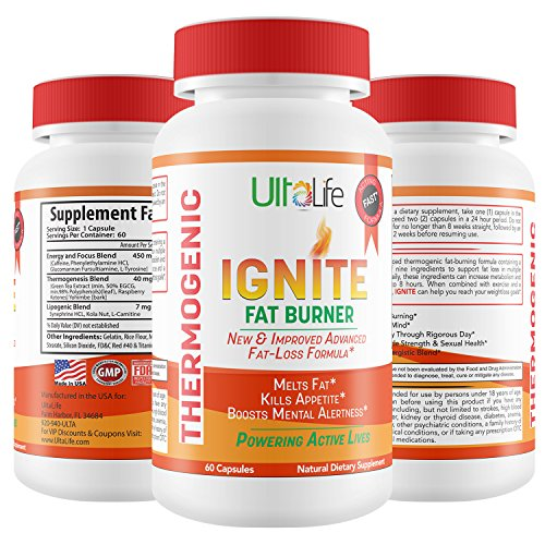 Ignite's 60 Day Fat Burning Weight Loss Diet Pills for Men &