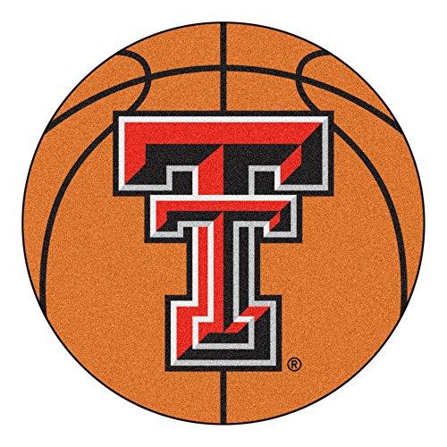 NCAA Texas Tech University Red Raiders Basketball Shaped Mat Area Rug
