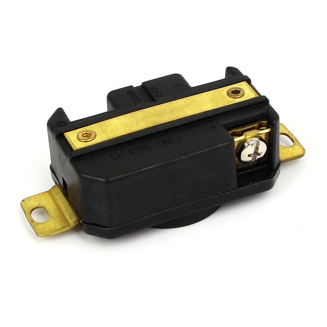Twist eDealMax AC 125V 20A US Socket serratura elettrica Presa LK-2321F NEMA L5-20R