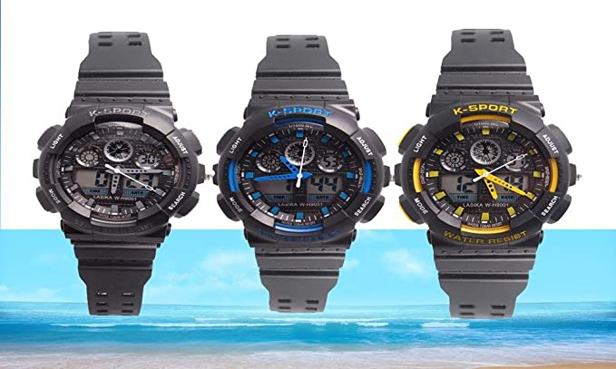 Gran Venta Nueva llegada LASIKA marca 30 m impermeable Relogio digital Sport Hombre Reloj Militar reloj de pulsera de buceo: Amazon.es: Relojes