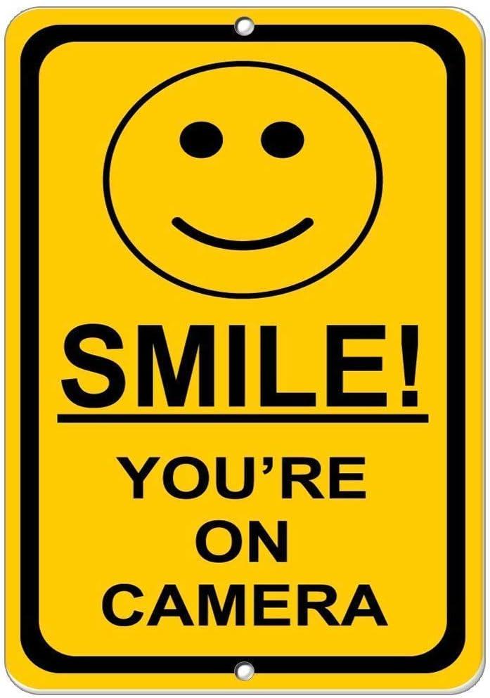 HNNT - Señal metálica (20 x 30 cm), diseño con Texto Smile! YouRe ...