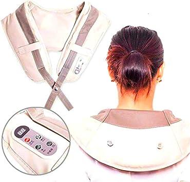 Almohadilla eléctrica Masaje de Cervical/Espalda/Hombros ...