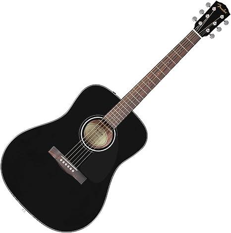 Guitarra acústica Fender Cd-60 - Black V2: Amazon.es: Instrumentos ...