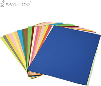 School 80GSM - 100 Sheets A4 Bright Colour Paper for Home Arts /& Crafts