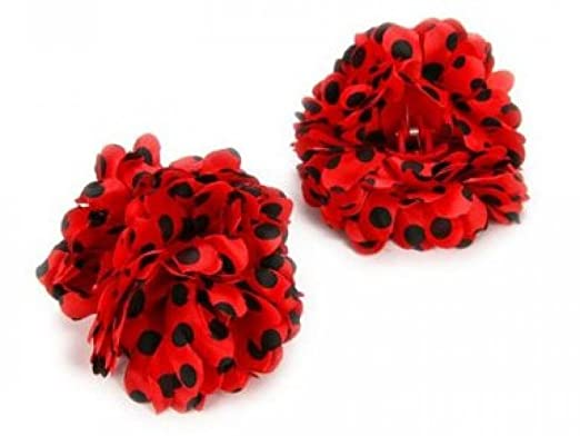 acheter pas cher belles chaussures design exquis Lot de 6 pince barette a cheveux Fleur Danse Flamenco Rouge ...