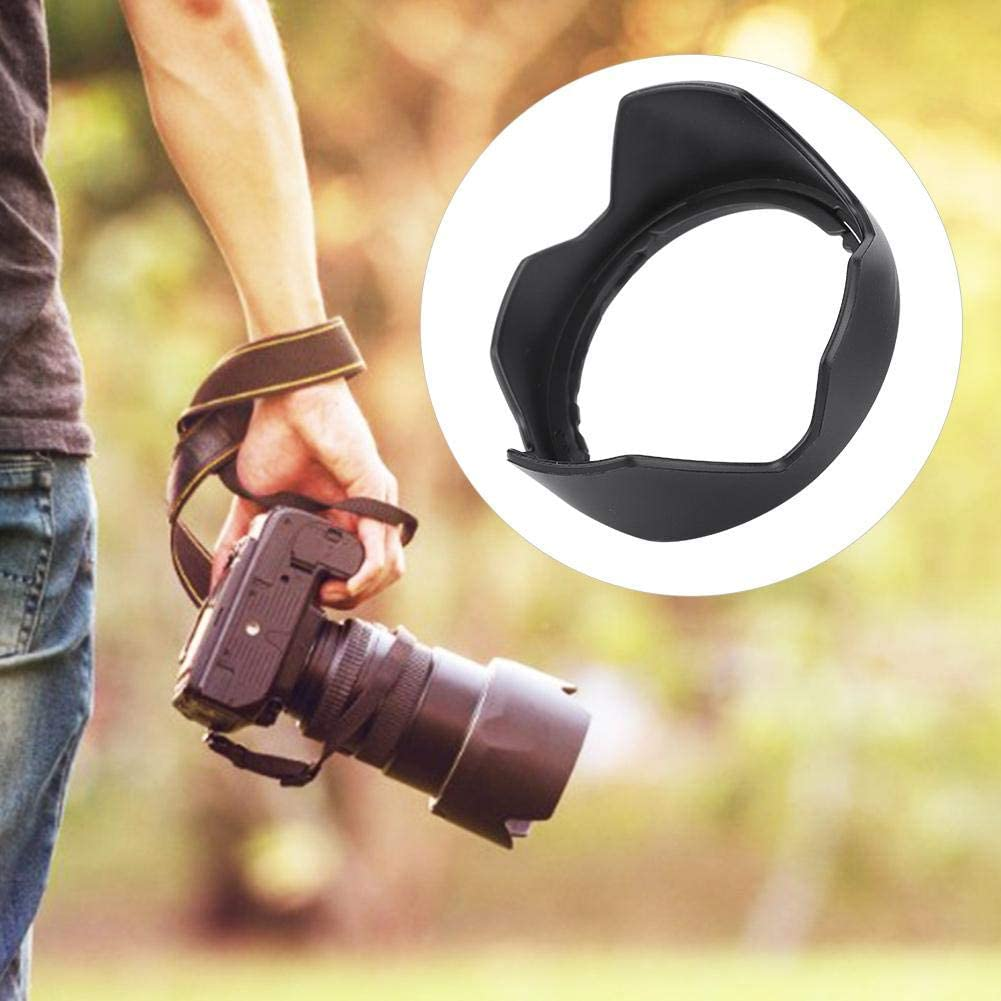 Plastic Camera Lens Hood Shade Waterproof Backlight Photography Lens Hood Replacement Part for M10 EF-M 15-45 mm f//3.5-6.3 SM