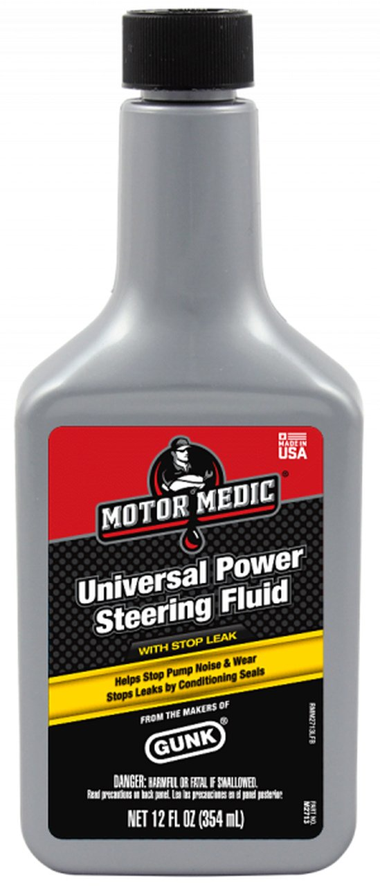 Motor Medic M2713 Universal Power Steering Fluid with Stop Leak - 12 oz. Niteo Products