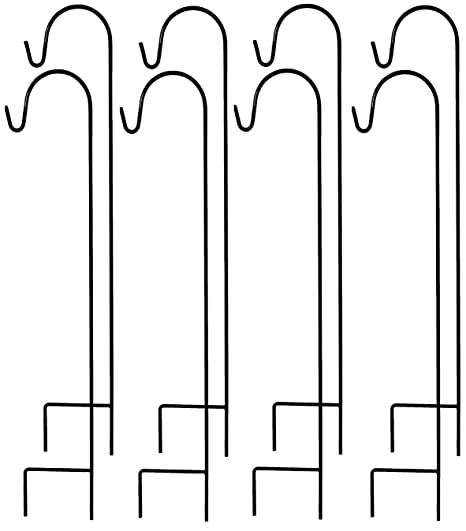 Amazing Ashman Shepherdu0027s Hooks Set Of 8 And 35 Inches Long Made Of Premium Metal  For Hanging
