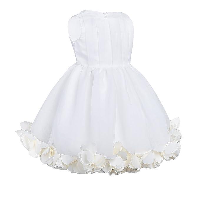 iEFiEL Vestido de Flores para Bebé Niña (3-24 Meses) Vestido Infantil de