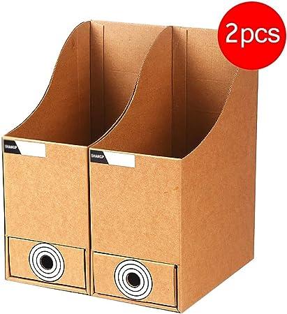 Carpetas Revista archivo Archivo Rack caja de papel A4 archivo rack columna de datos Archivo Rack de almacenamiento de acabado Escritorio Caja de almacenamiento con cajón (paquete de 2) caja de archiv:
